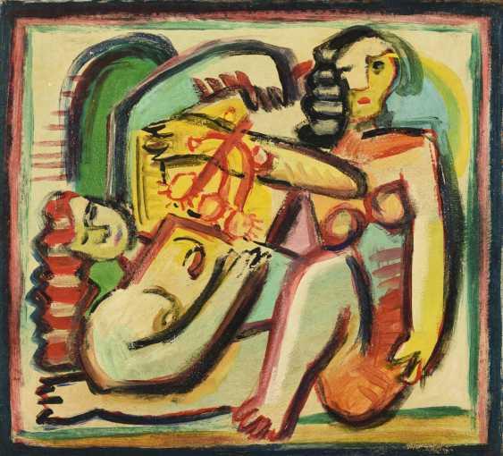 """Monogramist """"FT"""": Deux figures abstraites - photo 1"""