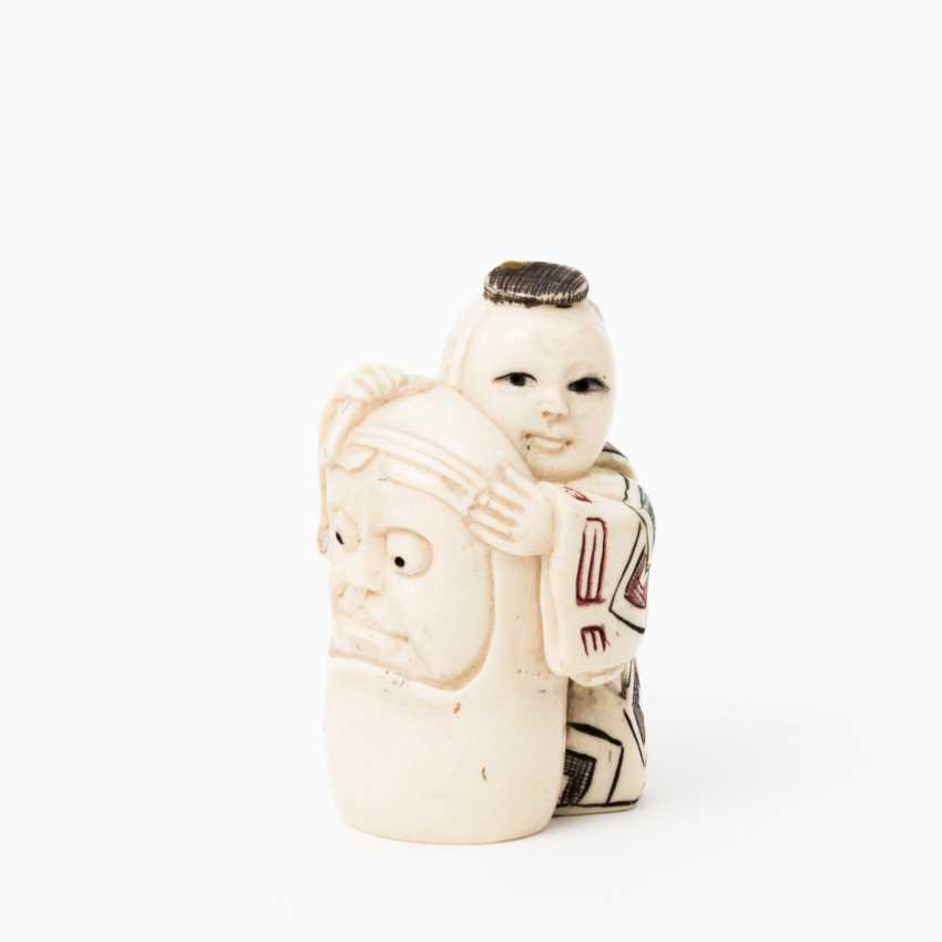 Netsuke made of ivory, JAPAN, Taisho period (1912-1926), - photo 1