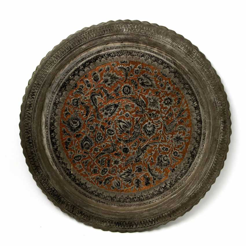 A Large Metal Plate. ORIENTAL, 20. Century - photo 1