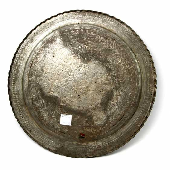 A Large Metal Plate. ORIENTAL, 20. Century - photo 3