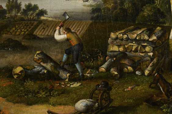 Baroque painter 18th century: lumberjack in a hilly landscape near a ruin - photo 2