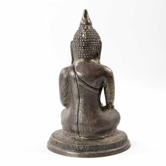 Shakyamuni Buddha representation made of metal. THAILAND, 20. Century - photo 3
