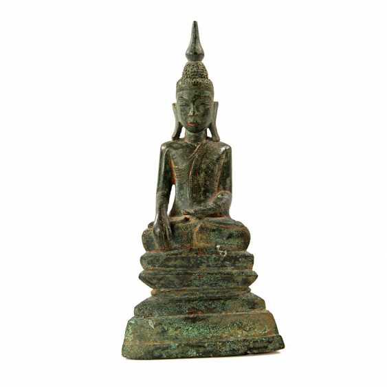 Bronze of Buddha Shakyamuni. THAILAND, probably 19th century. Century - photo 1
