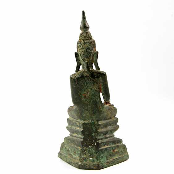 Bronze of Buddha Shakyamuni. THAILAND, probably 19th century. Century - photo 4