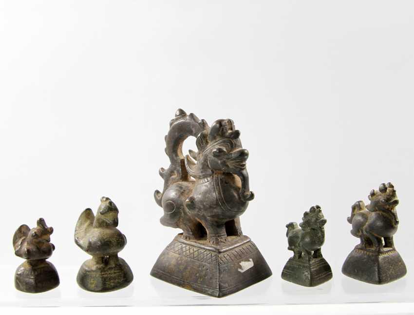 19 opium weights. BURMA, 18. / 19. Century - photo 2