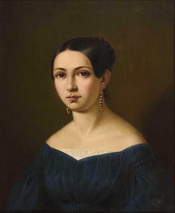 Biedermeier lady portrait - photo 1