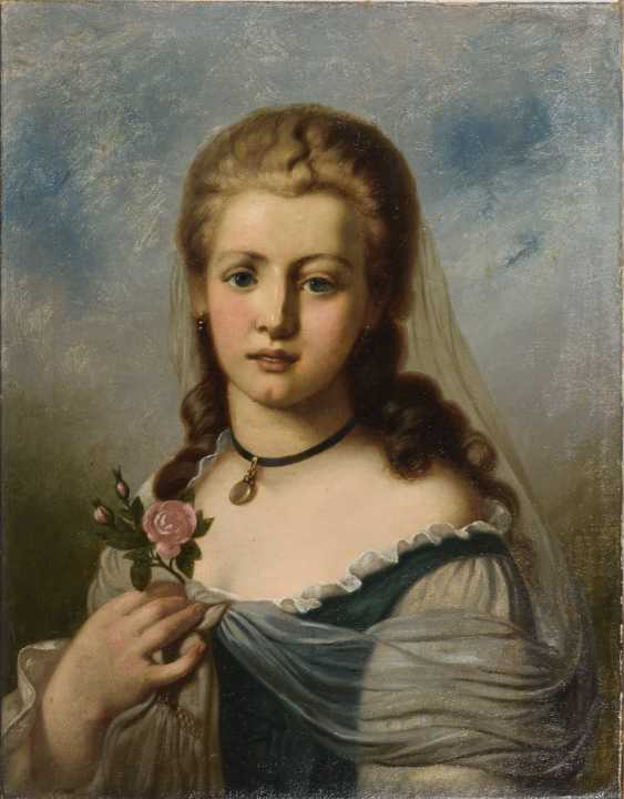 Portrait of a lady with a rose - photo 1