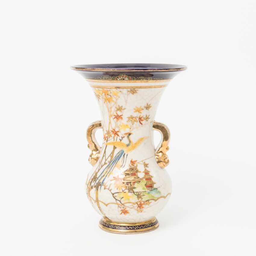 KonvoluTiefe: 5 Vasen im Satsuma-Stil. JAPAN, 20. Jahrhundert - photo 3