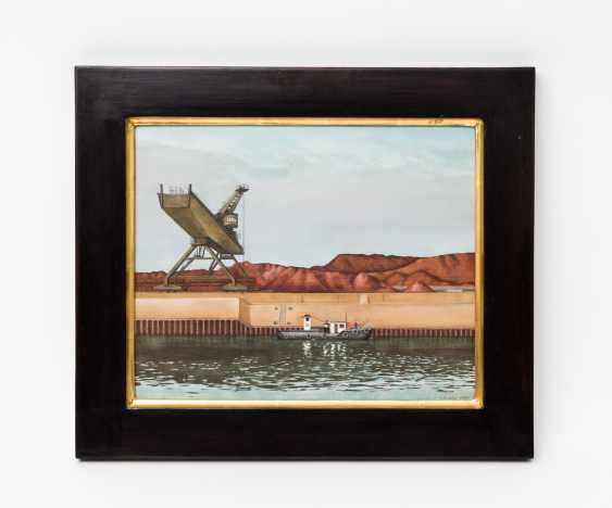 "SEQUENC, FRANZ (1938-2006), ""channel with crane and ship"", - photo 2"