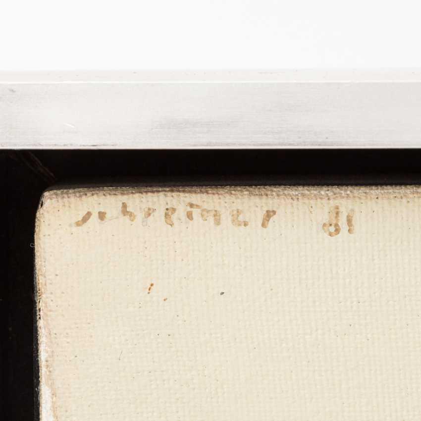 """SCHREINER, HANS (geb. In 1930, Bad friedrichshall, painter in Stuttgart), """"ocher field with hills"""", - photo 3"""