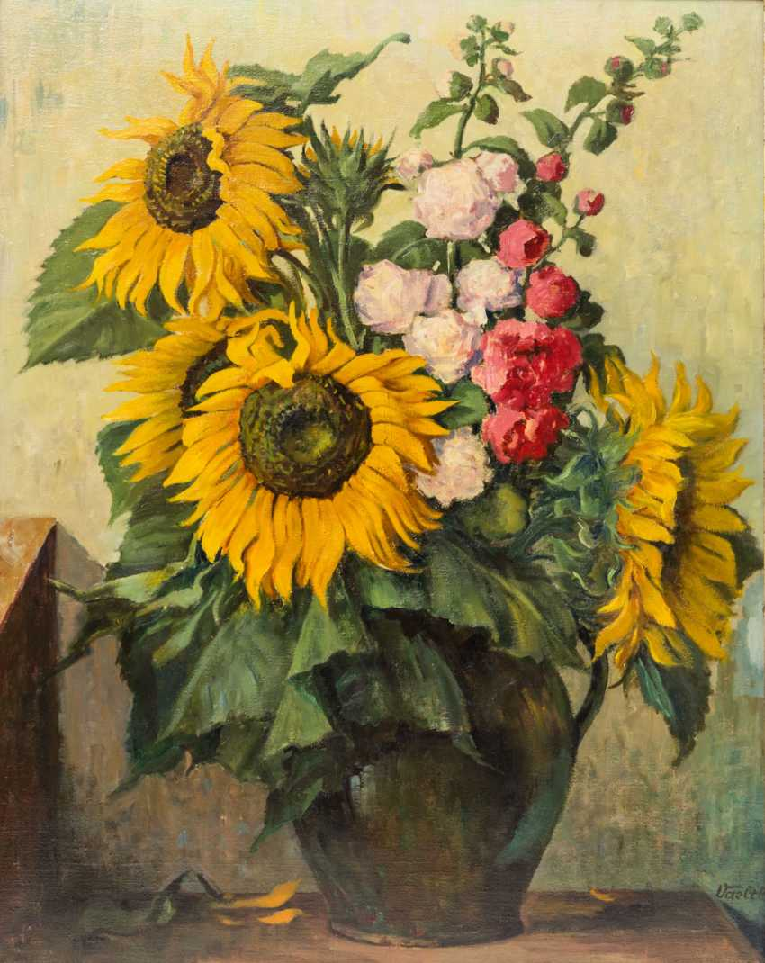 "VAELTL, OTTO (1885-1977), ""summer bouquet with sunflowers in a Vase"", - photo 1"