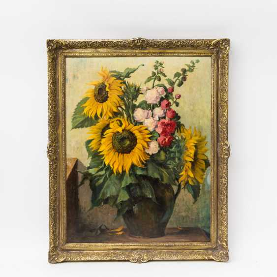 "VAELTL, OTTO (1885-1977), ""summer bouquet with sunflowers in a Vase"", - photo 2"