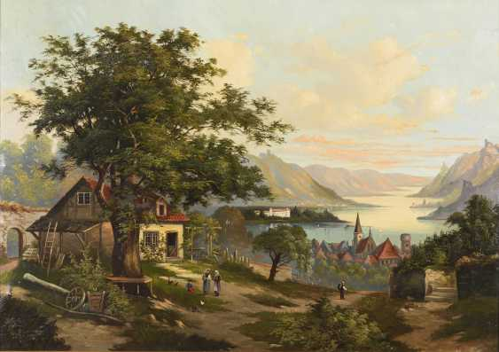 Rhine landscape with staffage - photo 1