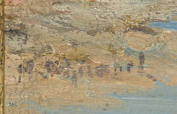 Indistinctly signed: mountain landscape with river - photo 2
