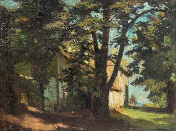"PAINTER of the 19th century. / 20. Century, ""house among trees"", - photo 1"