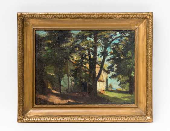 "PAINTER of the 19th century. / 20. Century, ""house among trees"", - photo 2"