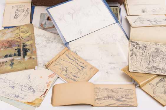 Original suitcase by Alexander von Szpinger with numerous sketches - photo 2