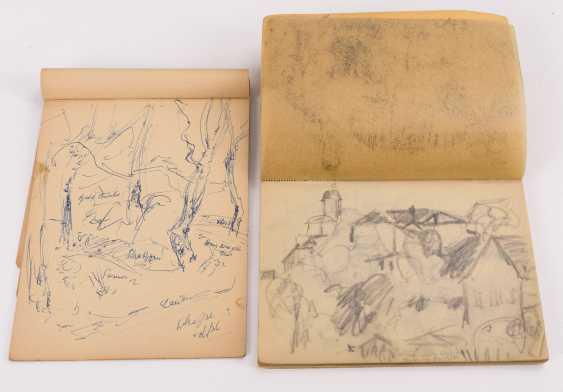 Original suitcase by Alexander von Szpinger with numerous sketches - photo 6