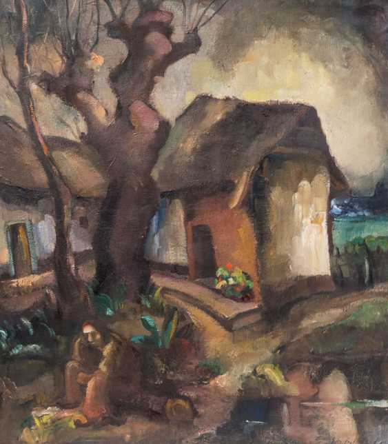 """Bellefroid's, GUILLAUME M. EDMOND (Maastricht 1893-1971), """"farmers sitting in front of the HOMESTEAD"""", - photo 1"""