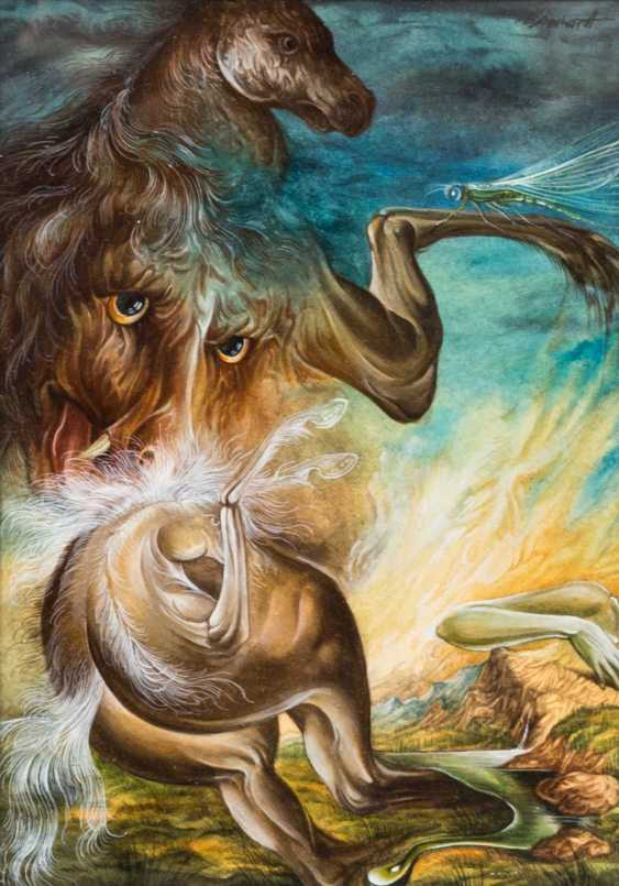 """SCHUCHARDT, DIETRICH (geb. 1945), """"a Surreal composition with animal figures & mythical creatures"""", - photo 1"""
