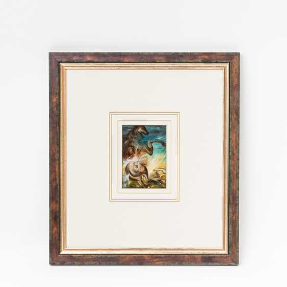 """SCHUCHARDT, DIETRICH (geb. 1945), """"a Surreal composition with animal figures & mythical creatures"""", - photo 2"""