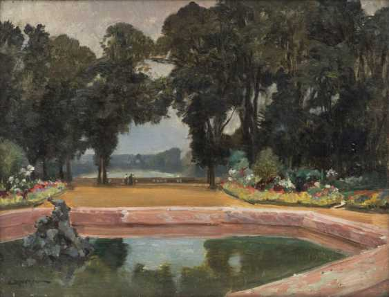 """DAMERON, EMILE CHARLES (1848-1908, French painter, ans. in Paris), """"In the Park"""", - photo 1"""
