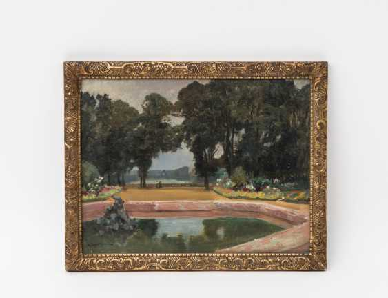 """DAMERON, EMILE CHARLES (1848-1908, French painter, ans. in Paris), """"In the Park"""", - photo 2"""