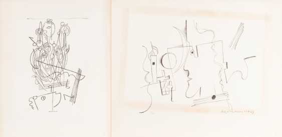 "ACKERMANN, MAX (Berlin 1887-1975 subitem tight Hardt, Prof.), 2 lithographs, ""figurative composition"", - photo 1"