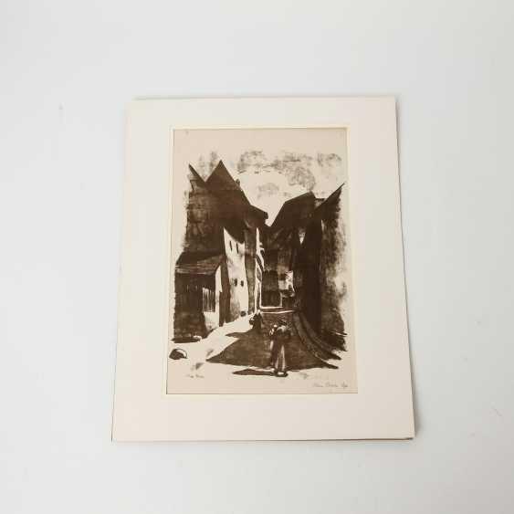 RÜHLE, CLARA (Stuttgart 1885-1947 Münsingen), 5 lithographs, landscapes, city views, - photo 1