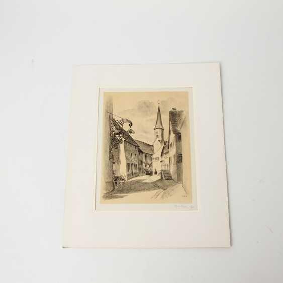 RÜHLE, CLARA (Stuttgart 1885-1947 Münsingen), 5 lithographs, landscapes, city views, - photo 2