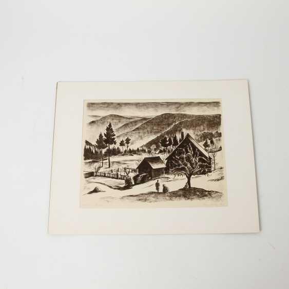 RÜHLE, CLARA (Stuttgart 1885-1947 Münsingen), 5 lithographs, landscapes, city views, - photo 3
