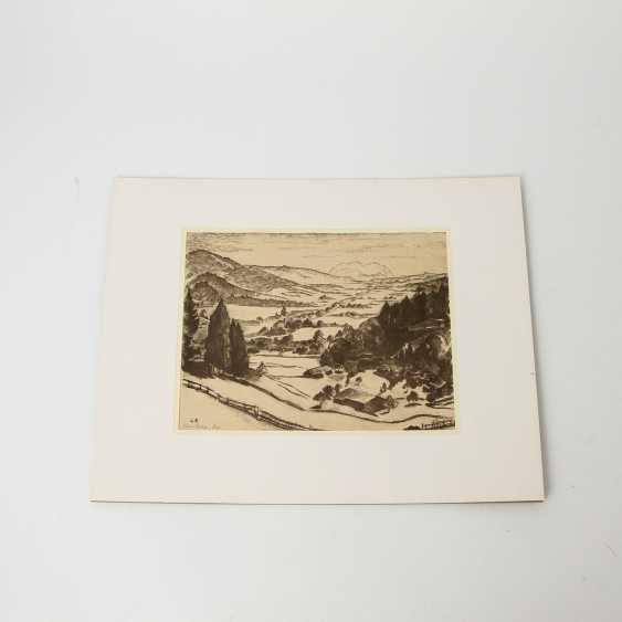 RÜHLE, CLARA (Stuttgart 1885-1947 Münsingen), 5 lithographs, landscapes, city views, - photo 4
