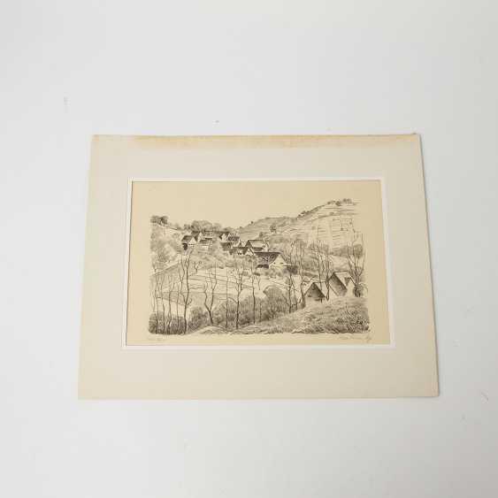 RÜHLE, CLARA (Stuttgart 1885-1947 Münsingen), 5 lithographs, landscapes, city views, - photo 5