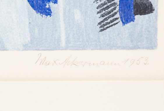 "ACKERMANN, MAX (Berlin 1887-1975 subitem tight Hardt, Prof.), ""Abstract figure composition on bright blue"", - photo 3"