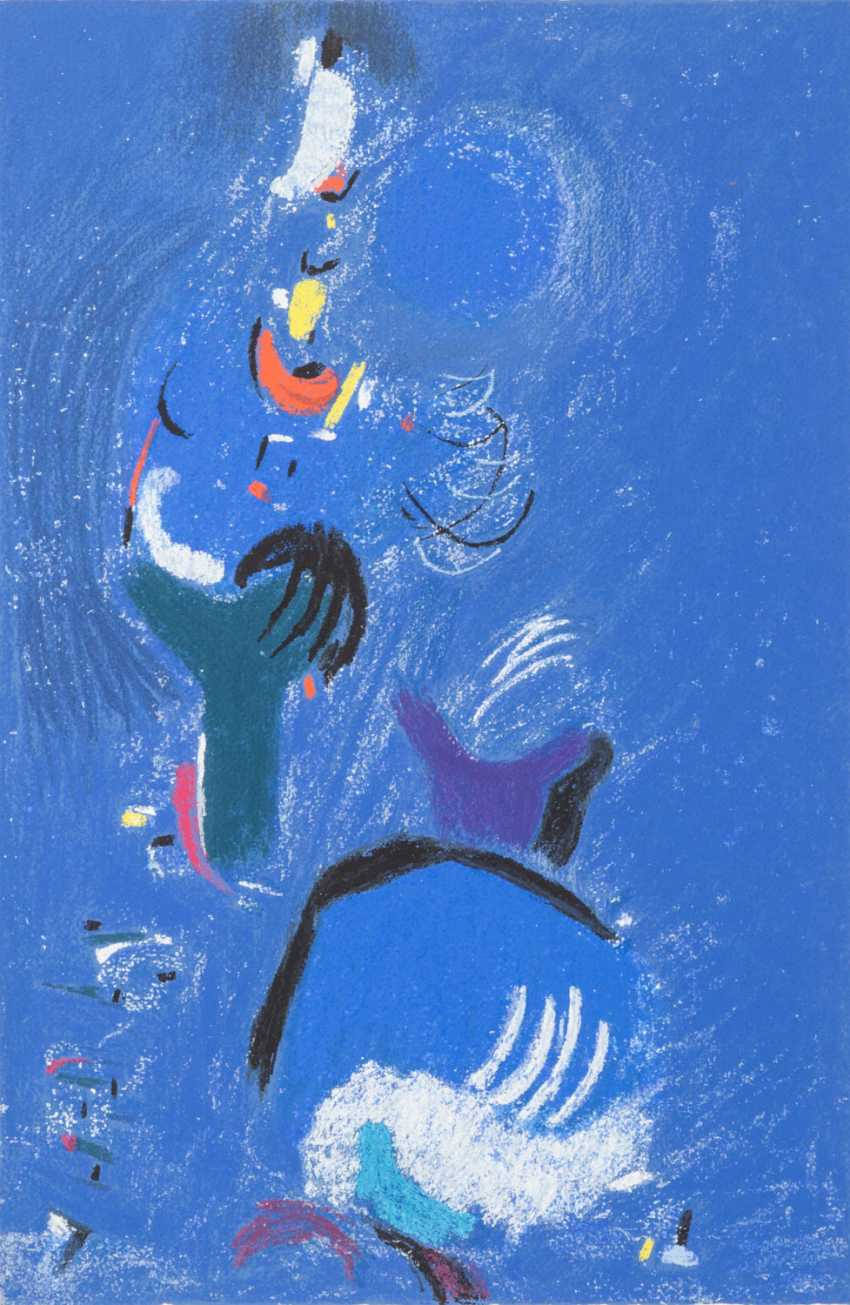 "ACKERMANN, MAX (Berlin 1887-1975 subitem tight Hardt, Prof.), ""Abstract figure composition in Blue"", - photo 1"