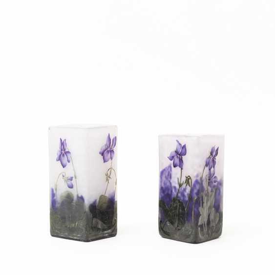 DAUM Pair of our vase vial, C. 1900 - photo 2