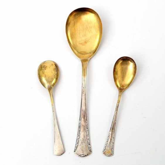 BRUCKMANN & SONS, 12 dessert spoons, a large spoon, art Nouveau, early 20's. Century - photo 3