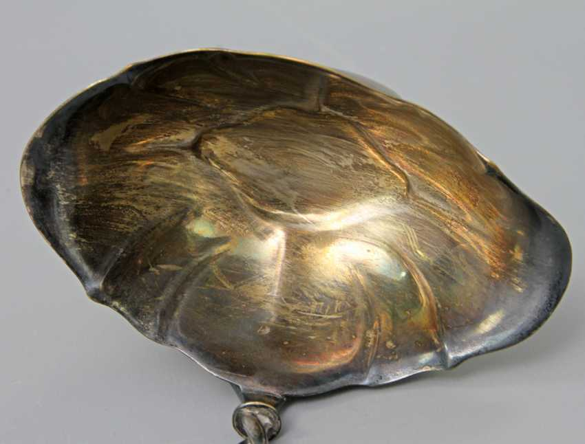 Silver plated soup ladle in the art Nouveau style, probably around 1920 - photo 4