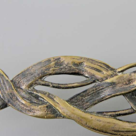 Silver plated soup ladle in the art Nouveau style, probably around 1920 - photo 6