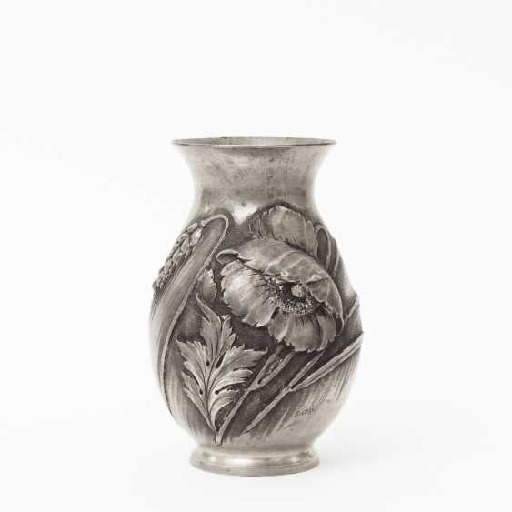 CORTESI pewter vase, art Nouveau, around 1900 - photo 1