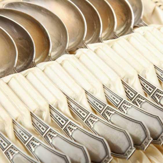HABERMANN, GUSTAV 12 coffee spoons, silver, Art Deco, 1900 - photo 2