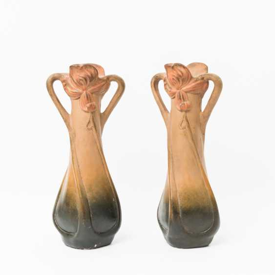 Pair Of Art Nouveau Handle Vase, Early 20's. Century - photo 1