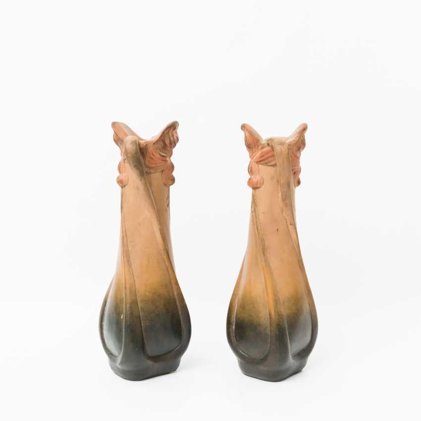 Pair Of Art Nouveau Handle Vase, Early 20's. Century - photo 2