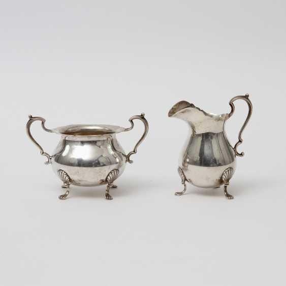 STERLING Set of sugar bowl and cream jug, 20. Century - photo 1