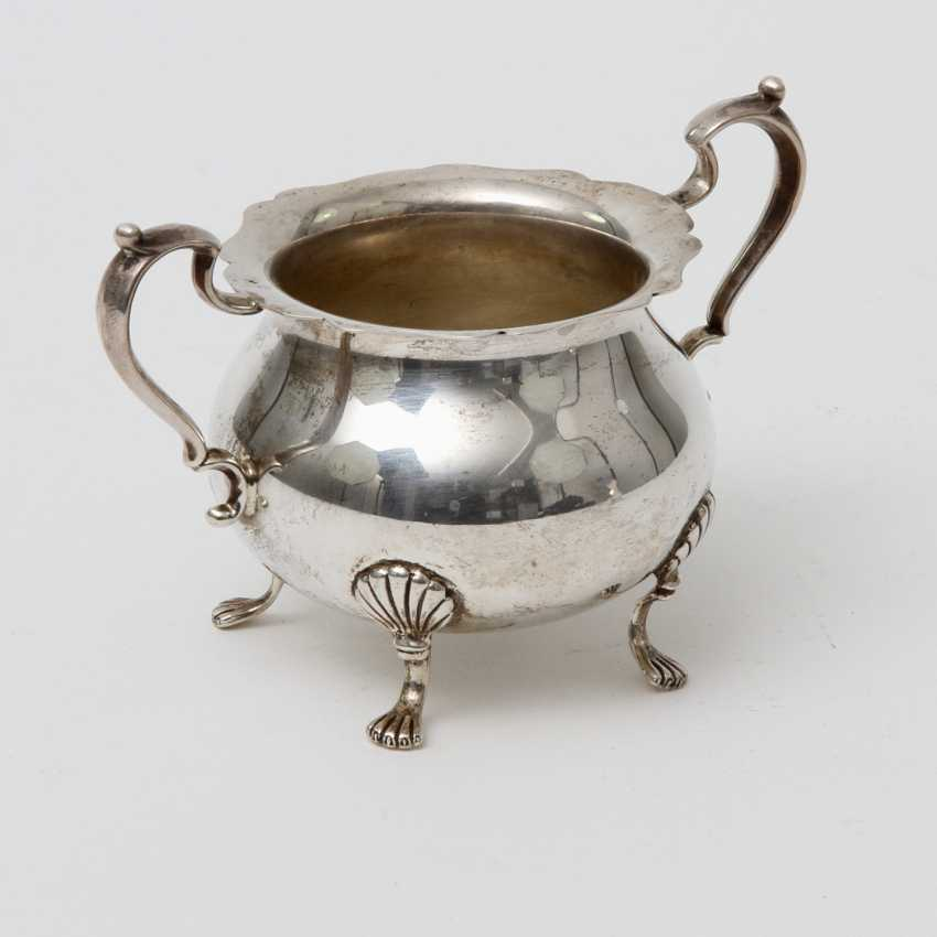 STERLING Set of sugar bowl and cream jug, 20. Century - photo 2