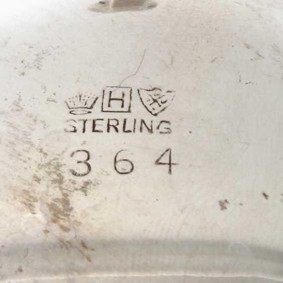 STERLING Set of sugar bowl and cream jug, 20. Century - photo 5