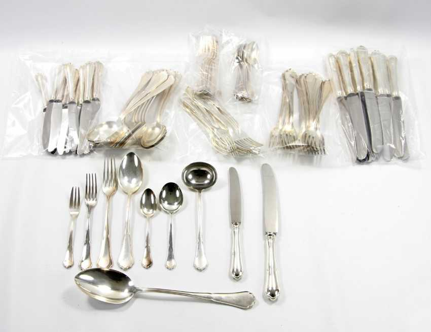 ENGLISH dining Cutlery for 12 persons, silver, 20. Century - photo 1