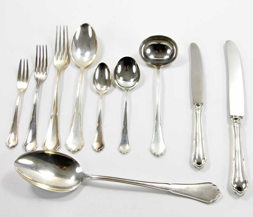 ENGLISH dining Cutlery for 12 persons, silver, 20. Century - photo 2