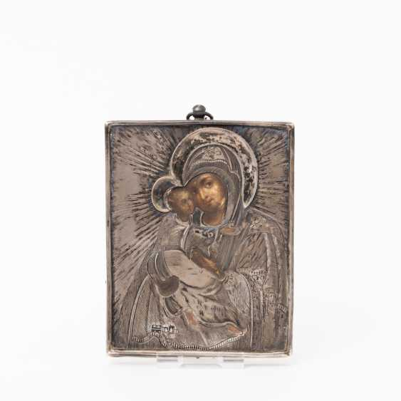"""ICON """"God's mother the most comfortable way is"""" with SILBEROKLAD, Moscow, Russia, in 1857, - photo 1"""