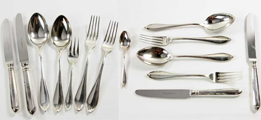 ROBBE & BERKING dining Cutlery for 12 persons, silver plated, 20. Century - photo 3
